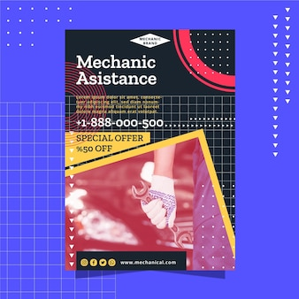 Modelo de panfleto mecânico