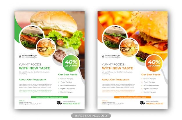 Modelo de panfleto. modelo de panfleto de restaurante