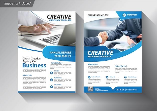 Modelo de panfleto para apresentação da empresa