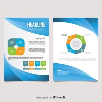 Modelo de panfleto profissional de negócios