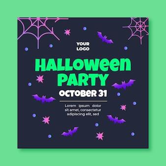 Modelo de panfleto quadrado de halloween