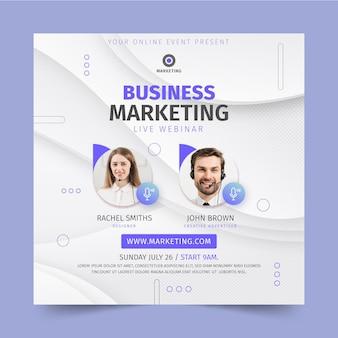 Modelo de panfleto quadrado de negócios de marketing