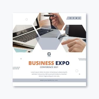 Modelo de panfleto quadrado de negócios em geral