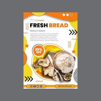 Modelo de panfleto vertical de pão