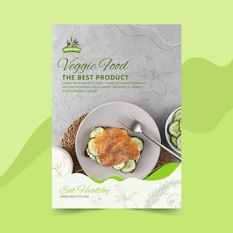 Modelo de panfleto vertical de restaurante de comida saudável