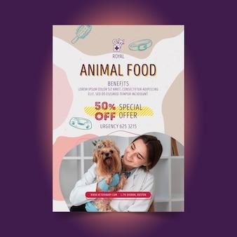 Modelo de panfleto veterinário com foto