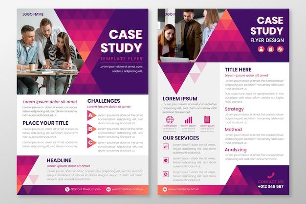 Modelo de panfletos de estudo de caso de gradiente