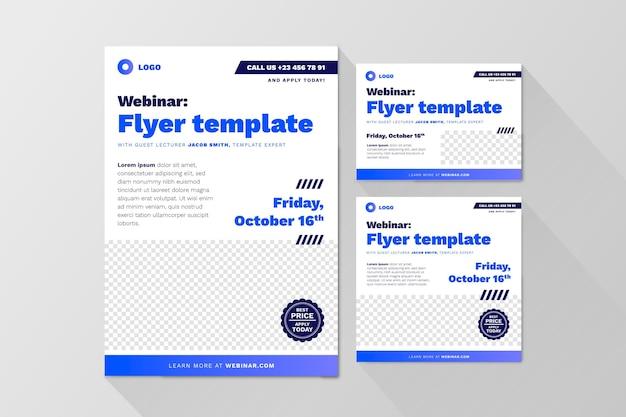 Modelo de panfletos de webinar abstrato