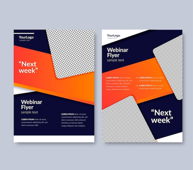 Modelo de panfletos de webinar
