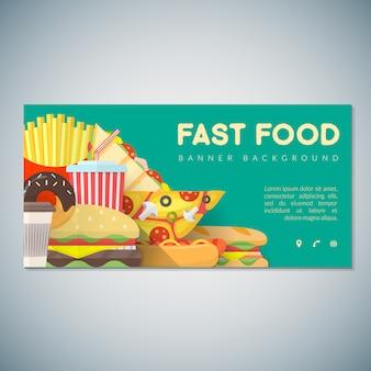 Modelo de pano de fundo de banner de fast-food
