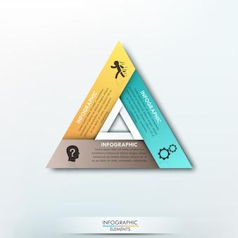 Modelo de papel de ciclo de infografia moderna