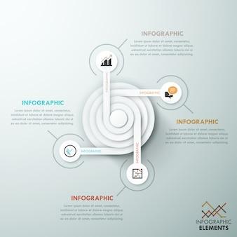 Modelo de papel de infografia moderna