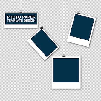 Modelo de papel de moldura de foto