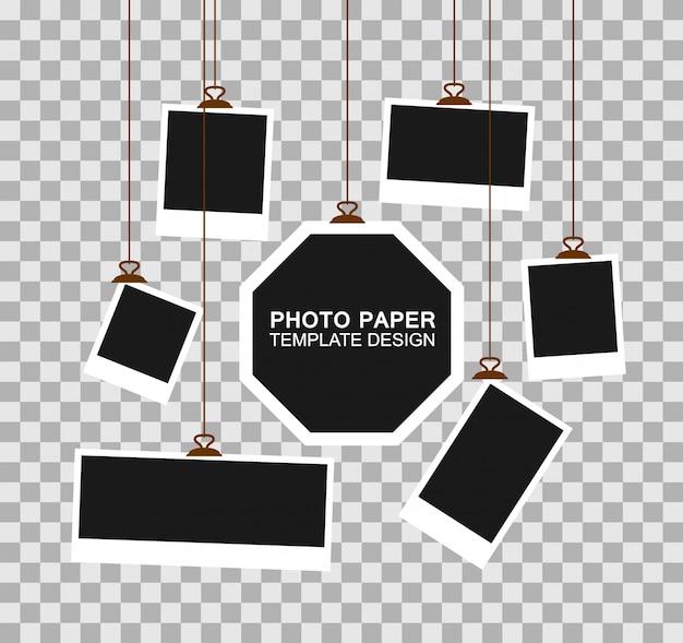 Modelo de papel de moldura de foto.