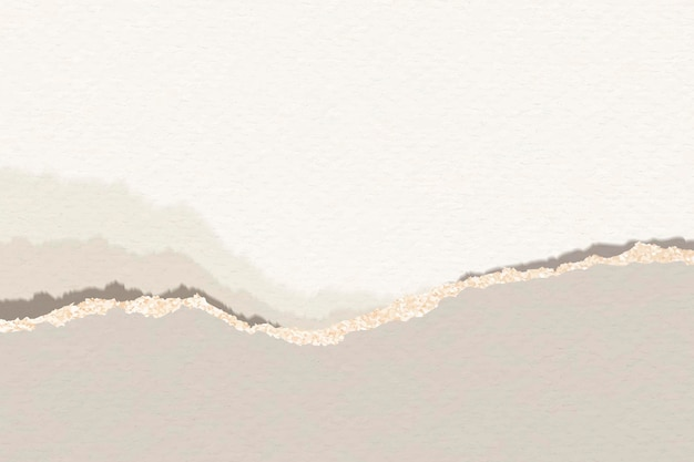 Modelo de papel de nota marrom rasgado