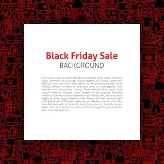 Modelo de papel de sexta-feira negra. ilustração em vetor de venda outline design.