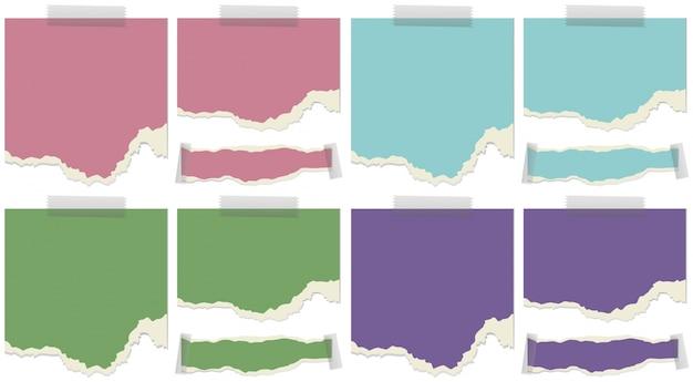 Modelo de papel em quatro cores