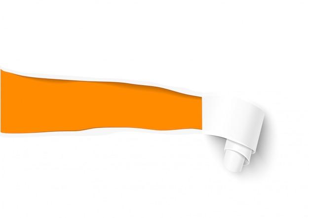 Modelo de papel rasgado para venda promocional e publicidade