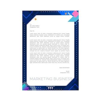 Modelo de papel timbrado comercial de marketing