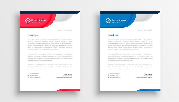 Modelo de papel timbrado da empresa elegante para identidade empresarial