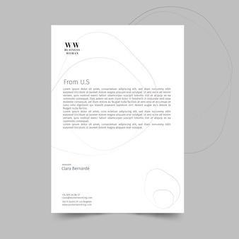 Modelo de papel timbrado de empresária