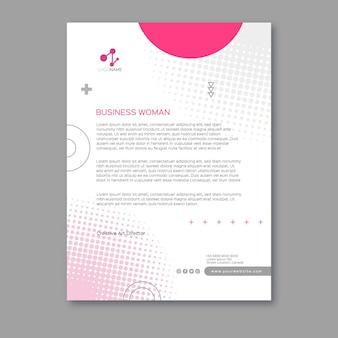 Modelo de papel timbrado de mulher de negócios