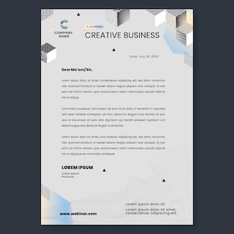 Modelo de papel timbrado de negócios criativos