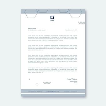 Modelo de papel timbrado de negócios em geral