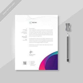 Modelo de papel timbrado - empresa de negócios