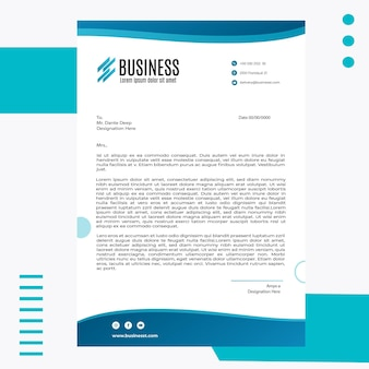 Modelo de papel timbrado empresarial inteligente