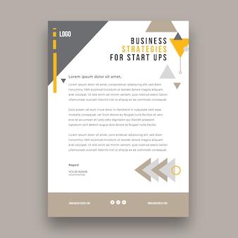 Modelo de papel timbrado para negócios em geral