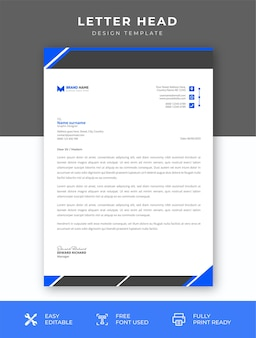Modelo de papel timbrado simples moderno da empresa