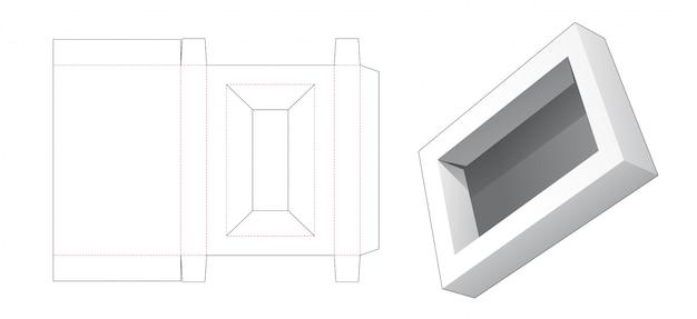 Modelo de papelão cortado