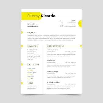 Modelo de papelaria - curriculum vitae minimalista