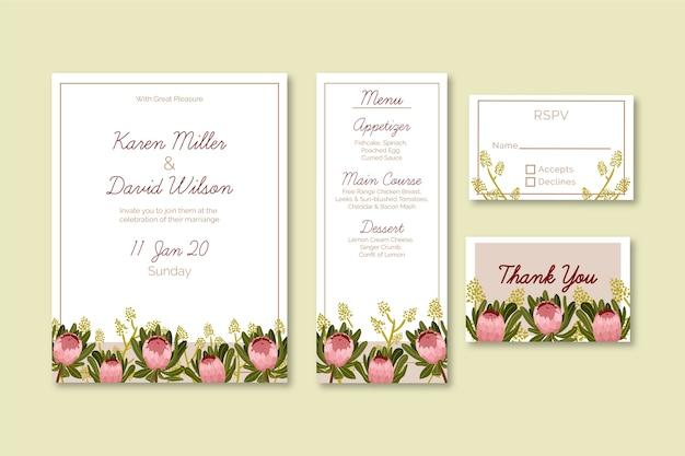 Modelo de papelaria floral casamento