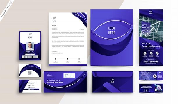 Modelo de papelaria - identidade corporativa moderna da marca