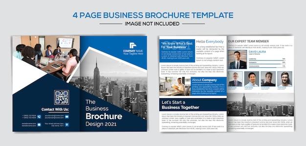 Modelo de perfil de empresa de páginas profissionais e criativas