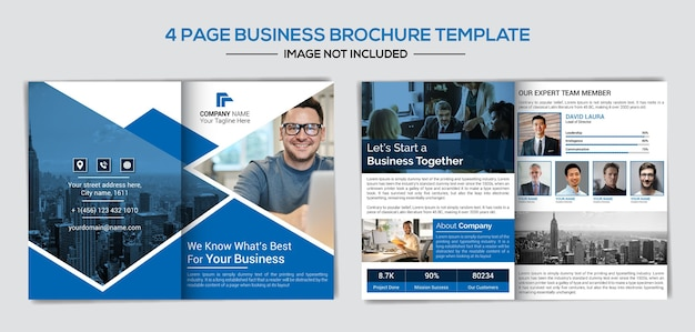 Modelo de perfil de negócios criativos