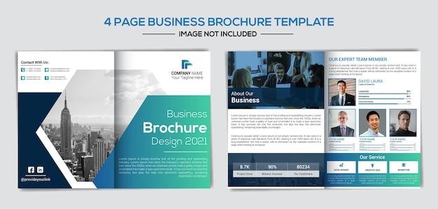 Modelo de perfil de negócios de empresa criativa