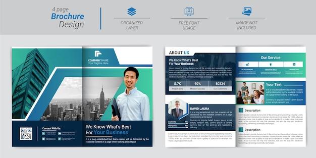 Modelo de perfil profissional e criativo da empresa