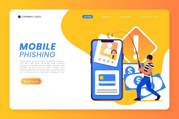 Modelo de phishing para celular