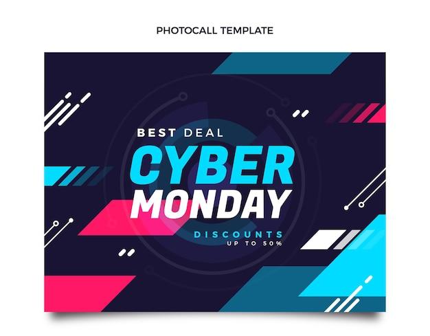 Modelo de photocall plano cibernético de segunda-feira