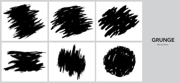 Modelo de pincelada preta grunge