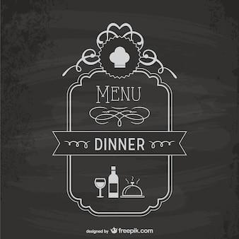 Modelo de placa do menu