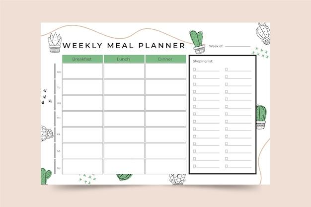Modelo de planejador de refeições