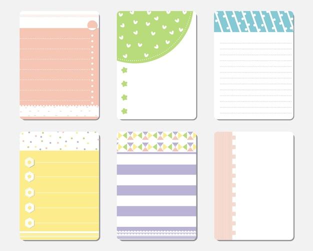 Modelo de planejador diário bonito