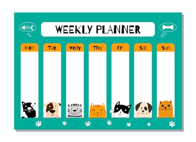 Modelo de planejador semanal.