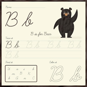 Modelo de planilha de letra b