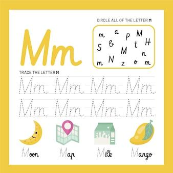 Modelo de planilha de letra m