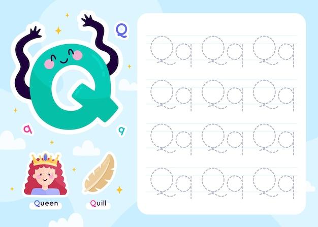Modelo de planilha de letra q